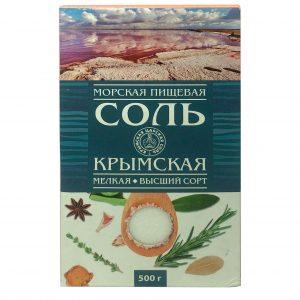 Соль морская мелкий кристалл (высший сорт) 500гр
