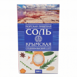 Соль морская средний кристалл (высший сорт) 500гр
